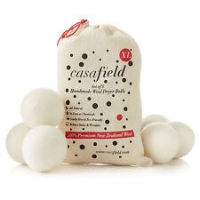 6 bolas Secador De Lana XL Orgánica New Zealand Wool Natural Suavizante de Ropa