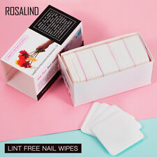 ROSALIND 250pcs 100% Cotton Nail Polish Remover Wipes Manicure Remover Pads SALE