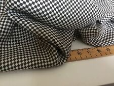 """New Brown & Ivory Diamond Weave Dogtooth Wool Fabric 62"""" 158cm Cloth Material"""