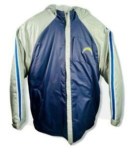 San Diego Chargers Wind Proof Hooded Winter Jacket Reebok Apparel