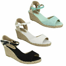 Spot On Wedge Casual Textile Shoes for Women