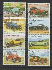 voiture et tacot 1983 St Tome et Principe série de 8 timbres oblitérés / T1398