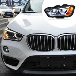 For BMW  X1 2016-2020 LED Headlight Assembly LED DRL yellow Turn Signal