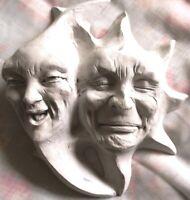 "8"" Sun and Moon Folk Art Hanging Sculpture, Classic Wall Art by Claybraven"