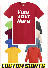 Personalized Custom Print Your Own Text T-Shirt -Customized Tee- FREE SHIP