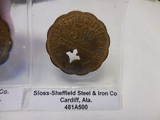 R-10 Sloss-Sheffield Steel & Iron Co - Cardiff,Ala. 5 dollar  Coal Scrip Token