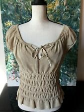 Suede Leather Top Sz 6/8/ S/M? Renaissance Gypsy Bohemian Country Pocahontas