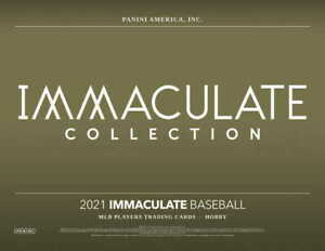 2021 PANINI IMMACULATE BASEBALL FACTORY SEALED HOBBY BOX PRESALE SHIPS 8/20/2021