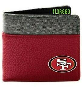 San Francisco 49ers NFL Bi-Fold Pebble Wallet