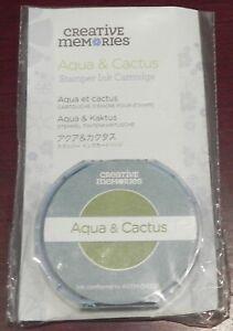 CREATIVE MEMORIES STAMPER AQUA/CACTUS INK CARTRIDGE BNIP