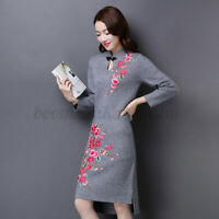 Hot Rose Flower Motif Collar  on Patch Applique Badge Embroidered Bust Dress !