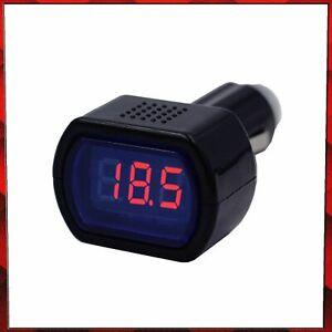 12V/24V LED Car Cigarette Socket Voltmeter Voltage Battery Tester Detector Meter