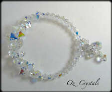 Cuff Bracelet made with Swarovski Crystal AB, Sterling Silver, Bridal, Occasion