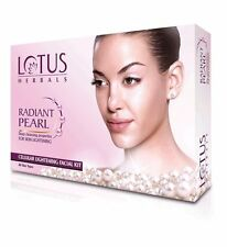 Lotus herbals radiant pearl lighting facial kit all skin type 40 gm