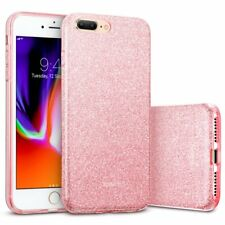 Rosa Glitter Sparkle Bling Lucido Custodia Apple iPhone 7 PLUS 8 PLUS slim antiurto