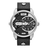 Diesel MINI DADDY , Armbanduhr Leder Herren Schwarz 46MM (DZ7307) Neu List