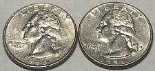 1996 P and D 2 Coin Washington Quarters Set In Great Condition