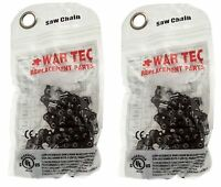 """WAR TEC 16"""" Chainsaw Chain Pack Of 2 Fits Some GARDENLINE Chainsaw"""