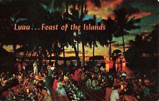 Postcard Luau Feast of the Islands Hawaii
