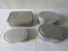Konvolut DDR Aluminium Brotdose Brotbüchse Bemmbüchse Frühstücksdose silber 4 St