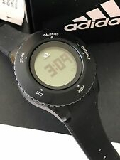 Adidas ADP3203 Mens Black Silicon Strap Multi-function Digital Watch Pre-owned