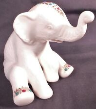LENOX CHINA JEWELS COLLECTION ELEPHANT SITTING TRUNK UP MINT RARE