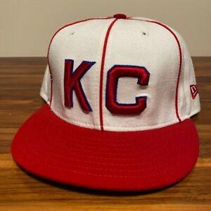 Kansas City Monarchs Hat Baseball Cap Fitted 7 3/8 New Era Vintage Retro NBL USA