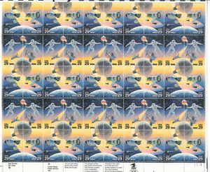 Scott #2631/4 ... 29 Cent.... Space...Sheet With 50 Stamps