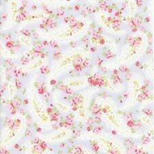 Moda Fabrics Guernsey Paisley Florals by Brenda Riddle Pale Blue By The yard