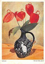 B69132 Anthurien Mit dem Fusse gemalt flowers fleurs