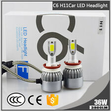 1PC H8 H9 H11 C6 Car LED Headlight Bulbs Front Fog Light 6000K 3800LM 36W White