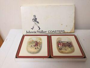 VINTAGE..COLLECTABLE..JOHNNIE WALKER...COASTERS...PIMPERNEL..BOXED..SET OF 6