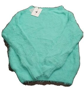Minx And Moss Wool Jumpers, Purple And Light Green Size L