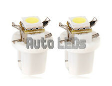 1 White SMD LED B8.5D Neo Wedge 12v Interior LED Bulb