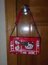 2010 Sanrio Co. Hello Kitty Purse Handbag Red/White/Black/Yellow/Silver #093076