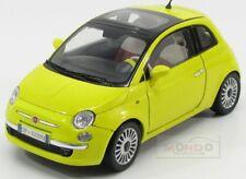 Fiat Nuova 500 2009 Yellow MotorMax 1:18 MTM79163Y