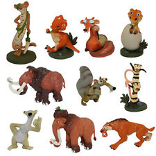 Ice Age 4cm-6cm Buck/Ellie/Scrat/Dinosaur Mini Figure Set of 10pcs