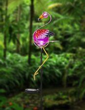 Ganz E9 Decor 39in H Solar Light Up Flamingo Garden Stake ER53800