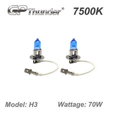 GP Thunder II 7500K H3 Xenon Halogen Light Bulbs 70W Pair Super White