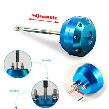 NEW Aluminum Alloy Blue Turbo Adjustable Wastegate Actuator and Rod Universal