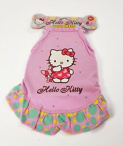 Hello Kitty Animal de Compagnie Chien Robe Pour Petit avec Strass Origine Sanrio