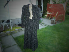 Victorian Day Dress Mourning Dress Black & Design Cotton Well made A+ Ca: 1890's