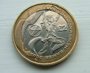 2002 two pound £2 Coin  Commonwealth Games SCOTTISH FLAG, Scarce