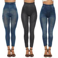 Womens Skinny Jeans High Waist Slim Leggings Denim Stretchy Jeggings Yoga Pants