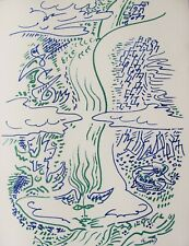 ANDRE MASSON - SURREAL #  3  -  ORIGINAL LITHOGRAPH - C.1960 - FREE SHIP IN US