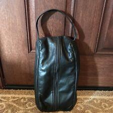 Mackenzie Black Leather Golf Shoe Bag - Made in Portland Oregon Usa