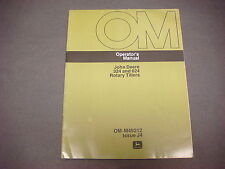 John Deere Operators Manual No.Om-M49212,Issue J4,324 and 624 Rotary Tillers