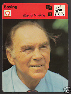 MAX SCHMELING German Boxing Champion Boxer 1979 SPORTSCASTER CARD 74-13