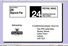10,000 Printed Royal Mail PPI labels ON ROLL Permanent
