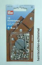 PRYM 15 Hohlnieten Nieten Hohlniete 4-6mm silber 403151